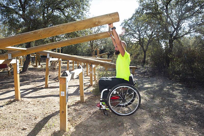 Ejercicios para los módulos adaptados para silla de ruedas